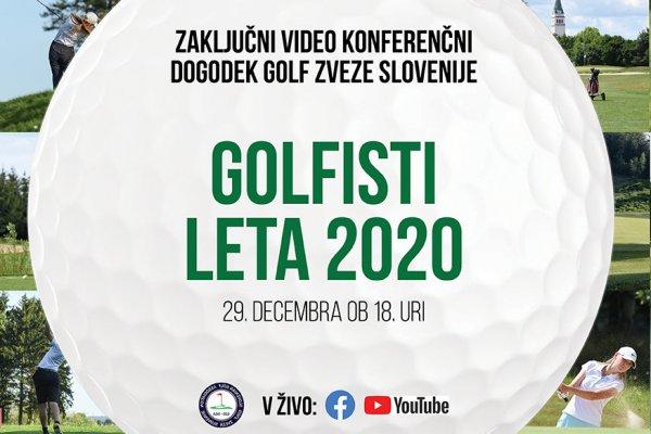 Zaključni video konferenčni dogodek – najbolj uspešni golfisti 2020