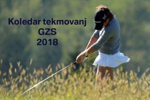 Koledar tekmovanj GZS 2018