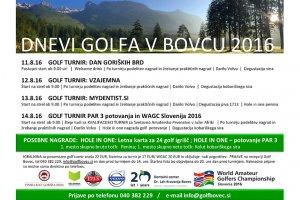 Dnevi golfa v Bovcu